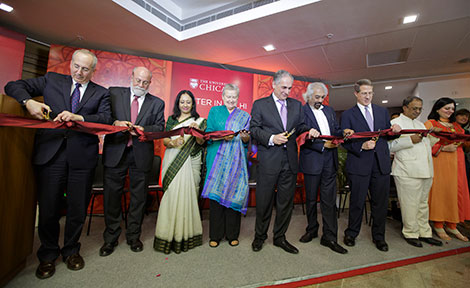 Ribbon-cutting at Center in Delhi