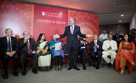 UChicago President Zimmer speaks at Center in Delhi
