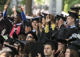 SSA graduates celebrate as they are introduced during Convocation.