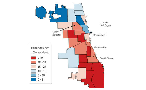 Daniel Kay Hertz map of homicides in Chicago, 1993