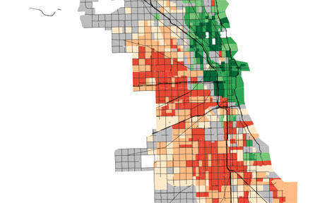 Daniel Kay Hertz map of income in Chicago