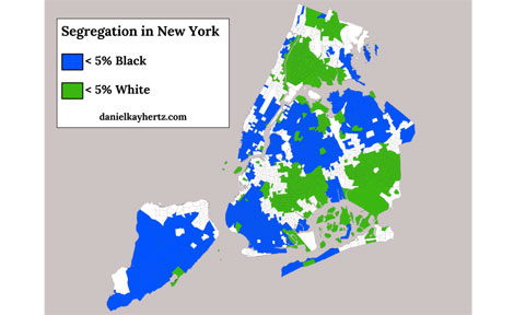 Daniel Kay Hertz map of New York city segregation
