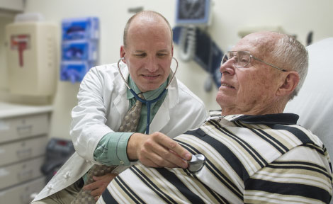 UChicago Dr. William Dale with patient Carl Foxx of Portage, Ind.