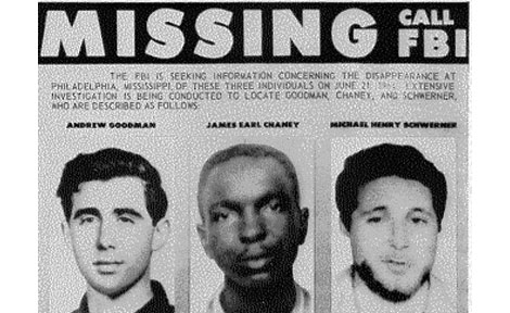 FBI poster of missing Freedom Summer volunteers