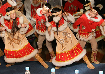 Evenki.dancers perform