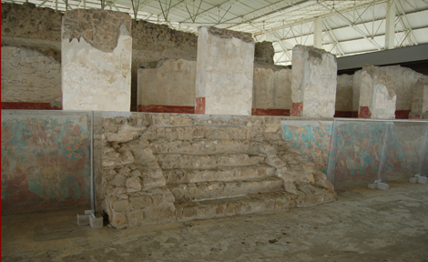 The Battle Mural at the Cacaxtla acropolis