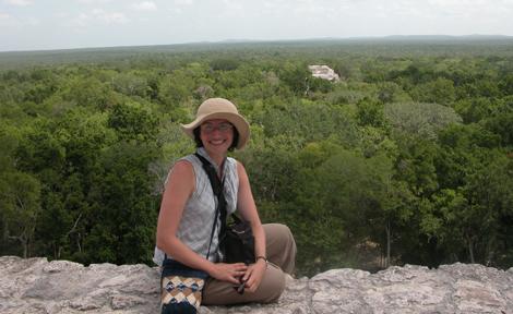 Claudia Brittenham in Calakmul, Mexico
