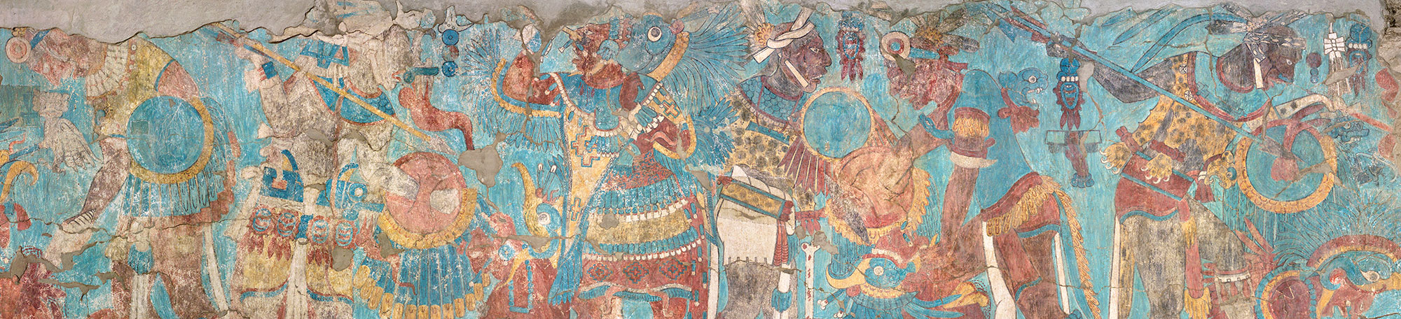 Battle Mural from the caves of Cacaxtla, Mexico