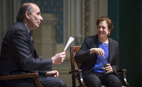 David Axelrod with Justice Elena Kagan