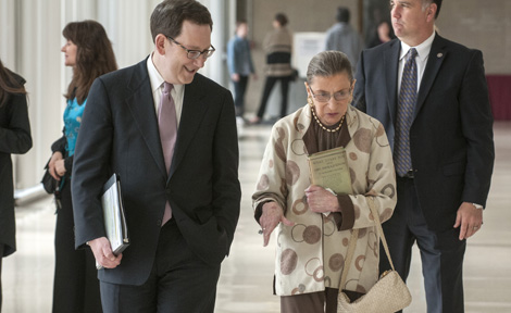 Dean Michael Schill and Justice Ruth Bader Ginsburg