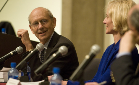 Justice Stephen Breyer and Prof. Martha Nussbaum