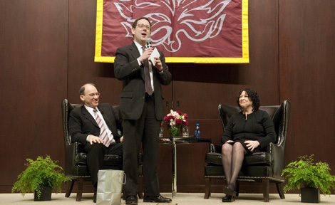 Dean Micheal Schill, Prof. David Strauss and Justice Sonia Sotomayor