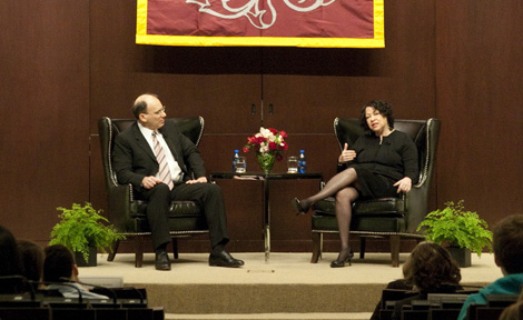 Prof. David Strauss with Justice Sonia Sotomayor