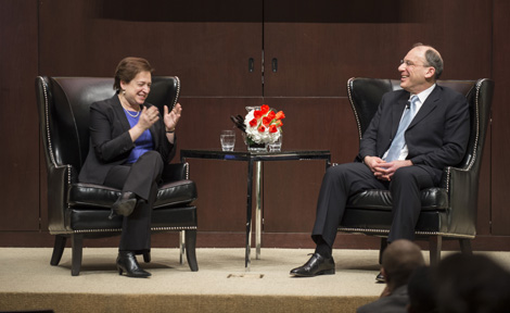 Justice Elena Kagan talks with Prof. David A. Strauss