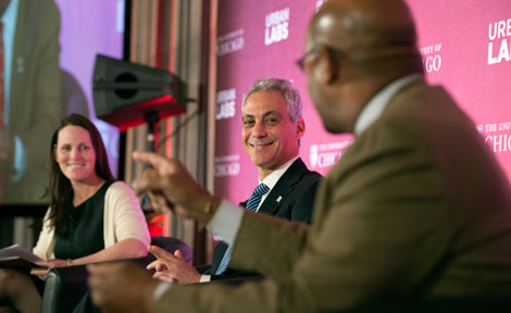 UChicago's Roseanna Ander with mayors Rahm Emanuel and Michael Nutter