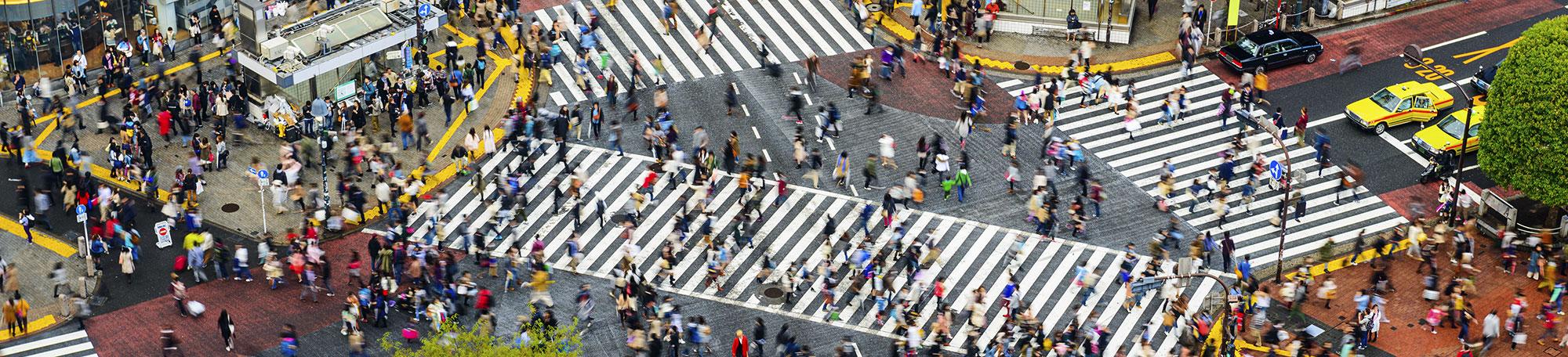 Urban scene in Tokyo, Japan