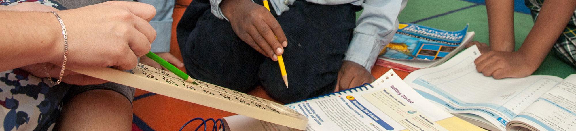 School children using Everyday Mathematics