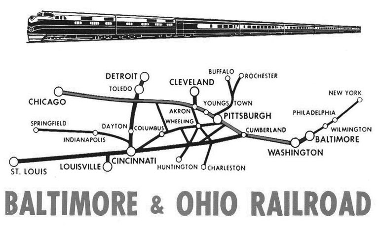 B&O Railroad map