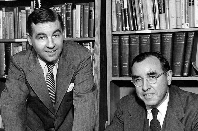 UChicago Profs. David Riesman and Reuel Denney