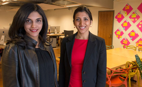 Arete co-directors Samar Kaukab and Jasmin Patel