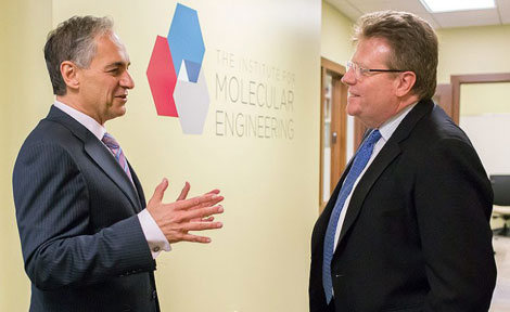 UChicago President Robert Zimmer and Prof. Matt Tirrell