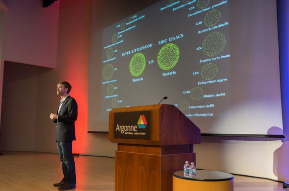 Assoc. Prof. Jack Gilbert at Argonne lecture