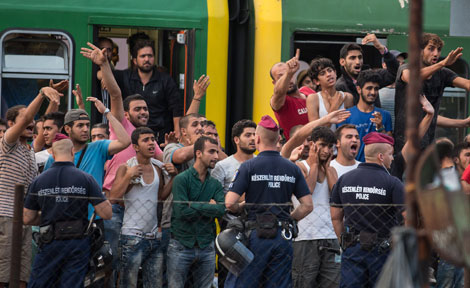 Migrants in Budapest
