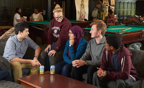 UChicago first-generation students at Hutchinson Commons