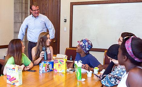 James Nondorf with CAAP program students