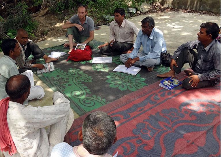 UChicago grad student Drew Kerr in India