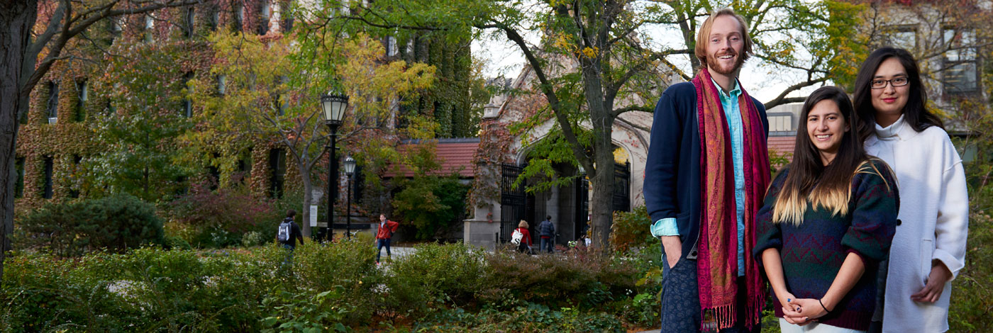 Graduate students on UChIcago campus