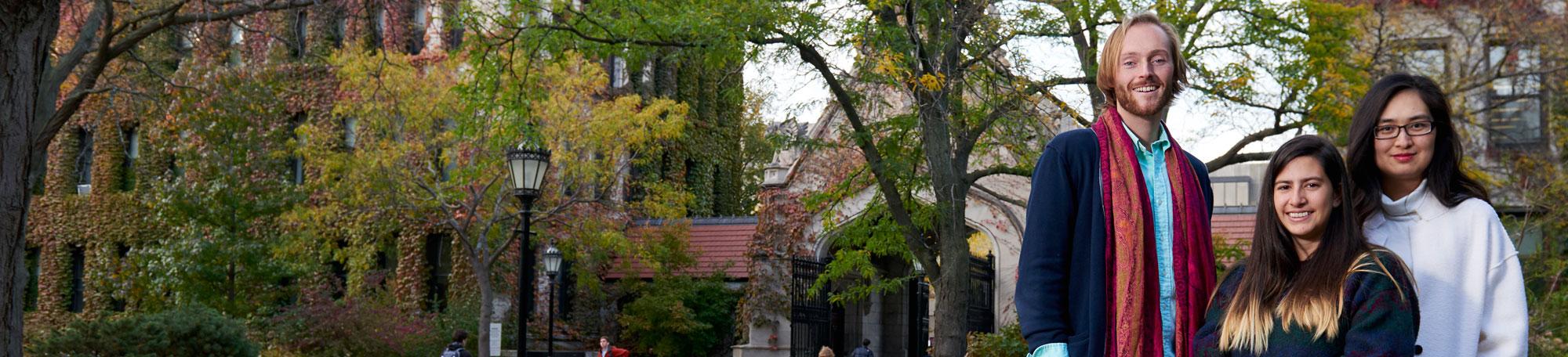 Graduate students on UChIcago campus