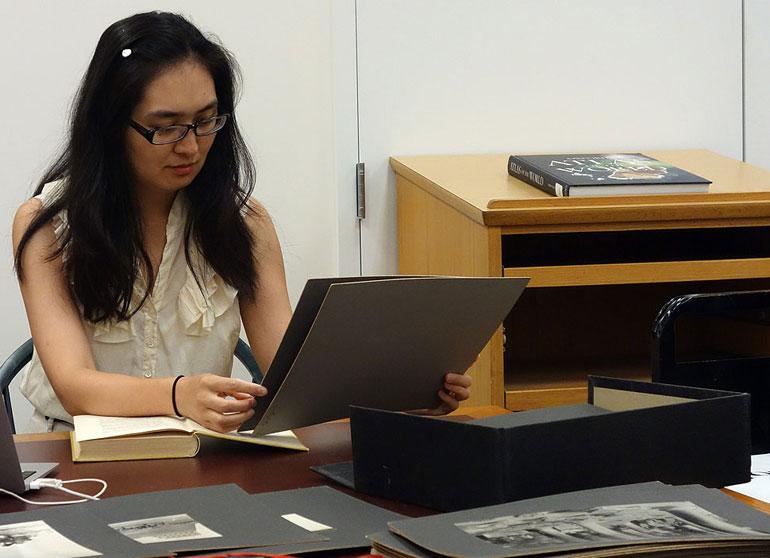 UChicago grad student Tingting Xu at Peabody Essex Museum