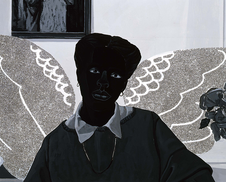 Renaissance Society Kerry James Marshall, Detail of Souvenir III