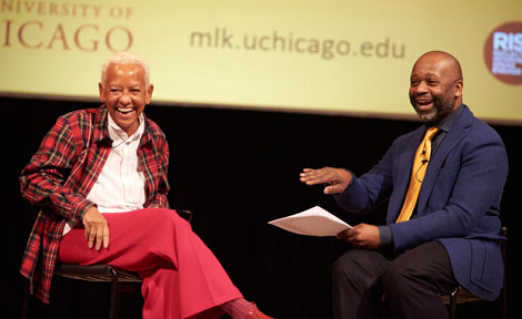 Poet Nikki Giovanni and Theaster Gates at MLK celebration