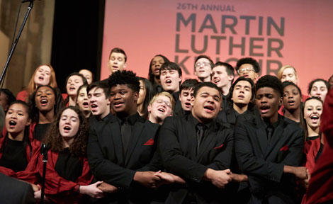 Choir sings during MLK celebration at Rockefeller Chapel