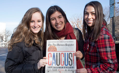 UChicago students in Des Moines, Iowa