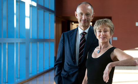 Harriet Heyman and Sir Michael Moritz