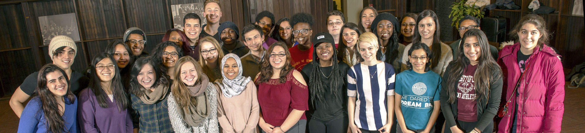 UChicago Odyssey students gather in the North Reading Room of the Cathey Learning Center in Harper Memorial Library.