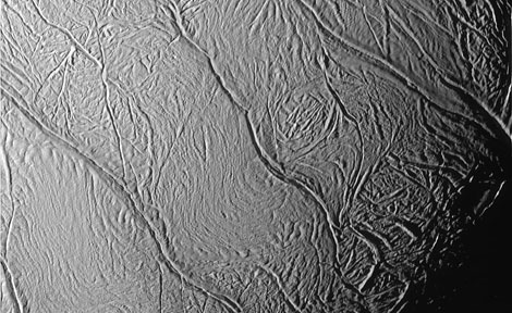Enceladus moon surface
