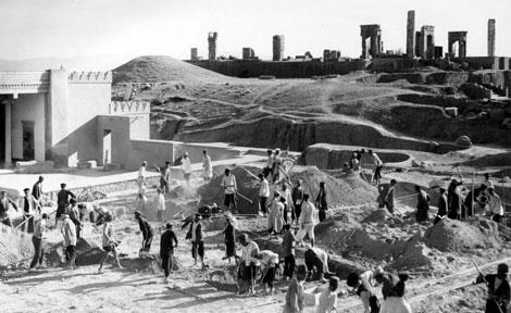 Persepolis excavation