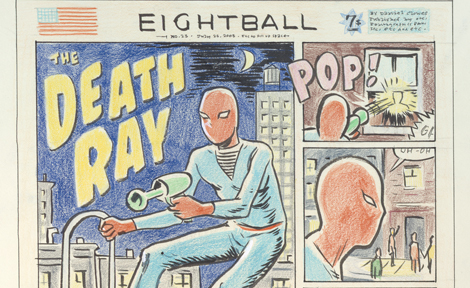 Draft of Death Ray in Eightball