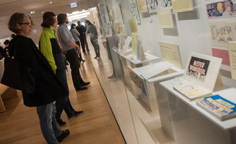 Guests explore Clowes exhibit