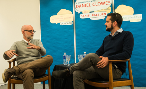 Clowes with Raeburn in interview