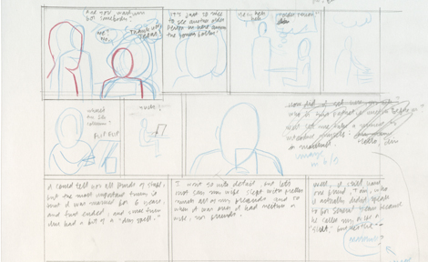 Rough draft of comic layout