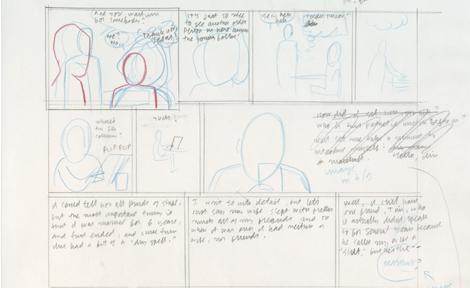 Rough draft of comic layout