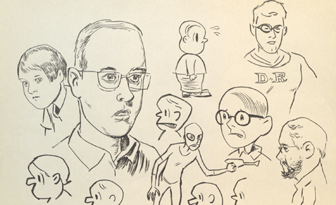 Sketches for Death Ray characters