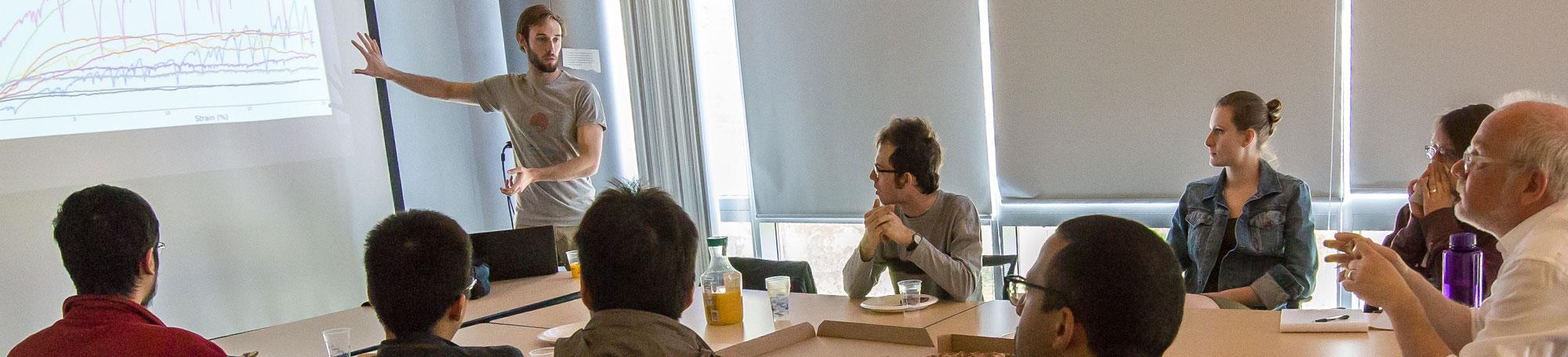 UChicago graduate students in Prof. Heinrich Jaeger's class