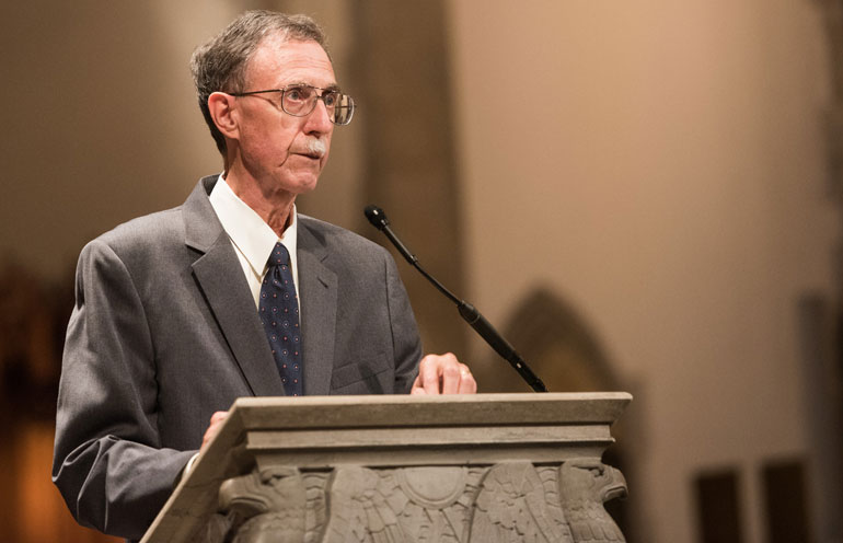 Dean John W. Boyer at Aims of Education address