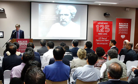 Lars Hansen speaks at Hong Kong Center